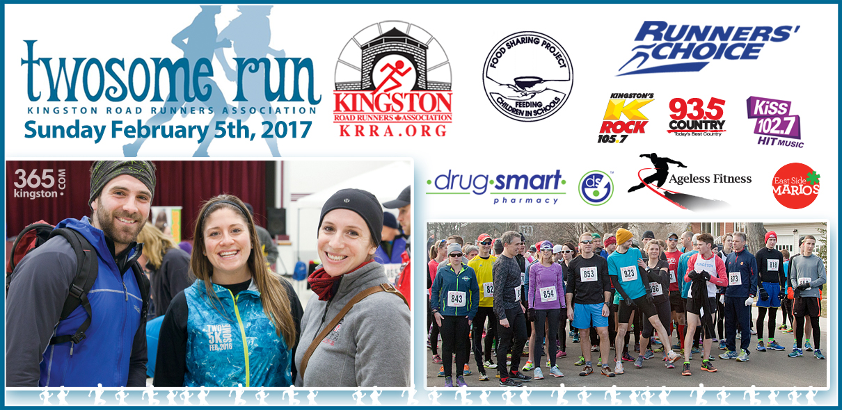 Twosome Run 2017 Join us Feb 5th for this 5k race through downtown Kingston.